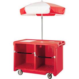 "Cambro CVC55158 - Camcruiser Vending Cart, 55-3/16""L x  31-1/4""W x 93-1/2""H, Hot Red"