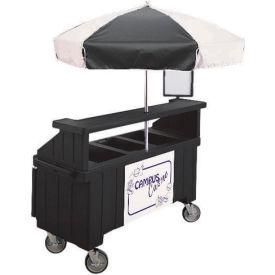 """Cambro CVC72110 - Camcruiser Vending Cart, 1 full size pan, 6"""" deep, Black"""