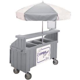 "Cambro CVC72191 - Camcruiser Vending Cart, 1 full size pan, 6"" deep, Granite Gray"