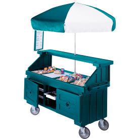 "Cambro CVC724192 - Camcruiser Vending Cart, 4 full size pans, 6"" deep, Granite Green"