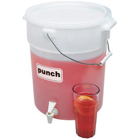 "Cambro DSPR6148 Beverage Dispenser, 6 Gallon, Polyethylene, 16-1/2""H, White by"