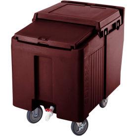 Cambro ICS175L131 - Ice Caddy, Dark Brown, 175 Lbs. Cap., Short, 2 Fixed, 2 Swivel, 1 with Brake