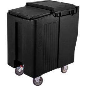Cambro ICS175T110 - Ice Caddy, Black, 175 Lbs. Cap., Tall, 2 Fixed, 2 Swivel, 1 with Brake