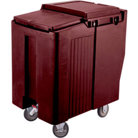 Cambro ICS175T131 - Ice Caddy, Dark Brown, 175 Lbs. Cap., Tall, 2 Fixed, 2 Swivel, 1 with Brake