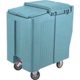 Cambro ICS175T401 - Ice Caddy, Slate Blue, 175 Lbs. Cap., Tall, 2 Fixed, 2 Swivel, 1 with Brake