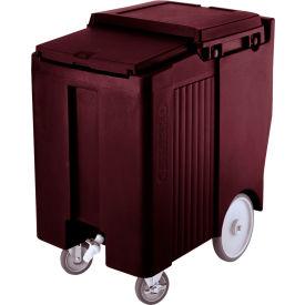"Cambro ICS175TB131 - Ice Caddy, Brown, 175lbs. Cap, Tall, 2 Swivel, 1 w/Brake, 2, 10"" Easy Wheels"