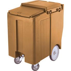 "Cambro ICS175TB157 - Ice Caddy, Beige, 175lbs. Cap, Tall, 2 Swivel, 1 w/Brake, 2, 10"" Easy Wheels"
