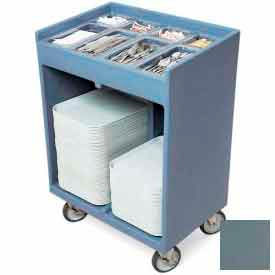 Cambro TC1418401 - Tray and Silver Cart (with Pans and Cover) Slate Blue