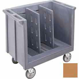 Cambro TDC30157 - Dish/Tray Cart adjustable with 2 dividers Coffee Beige