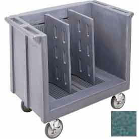 Cambro TDC30192 - Dish/Tray Cart Adjustable with 2 Dividers Granite Green NSF