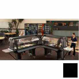 "Versa Food Bars™Serving Buffet, Cold Food, 72"" x 36"" Black"