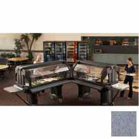"Versa Food Bar Tray Rail Only, 60"", Granite Gray, NSF"