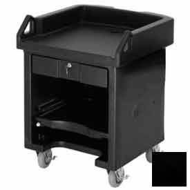 Cambro VCS110 Versa Cash Register Cart Lockable Center Drawer, Black by