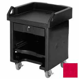 Cambro VCSHD158 Versa Cash Register Cart Lockable Center Drawer, Heavy Duty Casters, Hot Red by