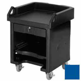 Cambro VCSHD186 Versa Cash Register Cart Lockable Center Drawer, Heavy Duty Casters, Navy Blue by