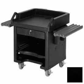 Cambro VCSWR110 Versa Cash Register Cart Lockable Center Drawer, Black w/ Tray Rails by