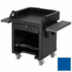 Cambro VCSWR186 Versa Cash Register Cart Lockable Center Drawer, Navy Blue w/Tray Rails by