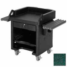 Cambro VCSWR519 Versa Cash Register Cart Lockable Center Drawer, Kentucky Green, w/Tray Rails by