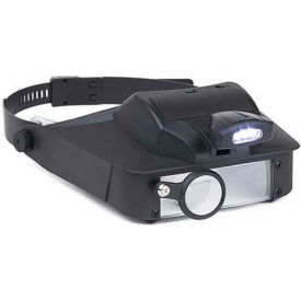 Carson LV-10 LumiVisor LED Lighted 2x/3x/5x/6x Head Worn Magnifier by