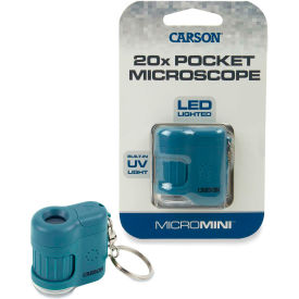 Carson® MicroMini 20x LED and UV Lighted Pocket Microscope - Blue