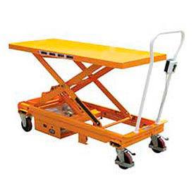 Vestil DC Power Hydraulic Scissor Cart - Single - CART-1000-LD-DC
