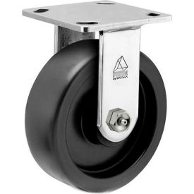 """Bassick Prism Stainless Steel Rigid Caster Polyolefin 6"""" Dia. by"""