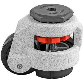 Swivel Stem Leveling Manual Caster 550 Lbs., 50mm Dia. Nylon Wheel, 1/2-13 Stem Mounting Hole