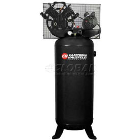 Campbell Hausfeld 1-Stage Electric Air Compressor CE4101, 230V, 5HP, 1PH, 60 Gal