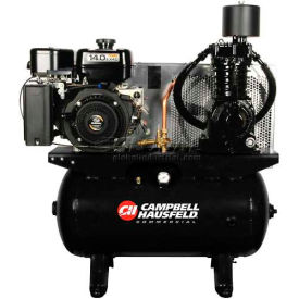 Campbell Hausfeld Two-Stage Gas Powered Air Compressor CE7004, Subaru EX40, 14HP, 30 Gal