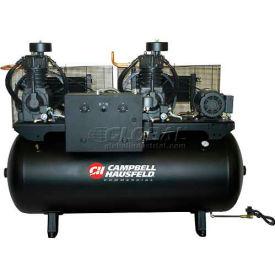 Campbell Hausfeld CE7253FP, Duplex Air Compressor, 10HP, 208-230/460V, 120 Gal.