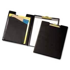 "Cardinal® Sealed Vinyl Clip Folder with Pad, Letter-Size, 9-1/2"" x 12-1/2"", Black"