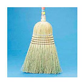 "Warehouse Broom All-Corn Bristles, 42"" Wood Handle Natural - BWK932CEA"