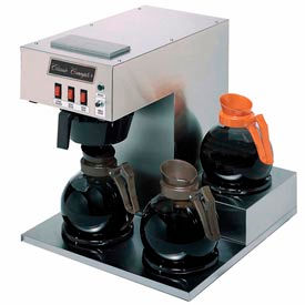 Classic Coffee Concepts GB360 - Coffee Brewer, 3 Warmers, Stainless Steel, Separate On/ Off Switches