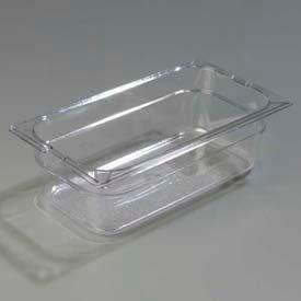 "Carlisle 1026107 - Topnotch® One-Third Size Food Pan 12-3/4"" x 7"", Clear - Pkg Qty 6"