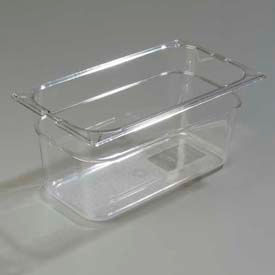 "Carlisle 1026207 - Topnotch® 1/3 Size Food Pan, 6"" Deep, Clear - Pkg Qty 6"