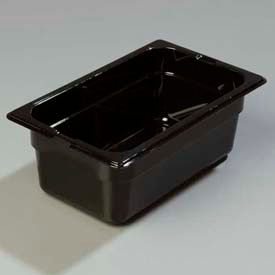 "Carlisle 1028103 - Topnotch® One Quarter Size Food Pan 10-1/4"" x 6-3/8"", Black - Pkg Qty 6"