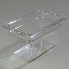 "Carlisle 1028207 - Topnotch® 1/4 Size Food Pan, 6"" Deep, Clear - Pkg Qty 6"