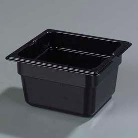 "Carlisle 1030103 - Topnotch® 1/6 Size Food Pan 6-25/32"" x 6-3/8"", Black, 4"" Deep - Pkg Qty 6"