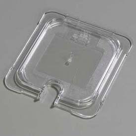 "Carlisle 10317U07 - Topnotch® Universal Flat Notched Lid 6-3/4"" x 6-3/8"", Clear - Pkg Qty 6"