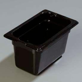 "Carlisle 1032103 - Topnotch® One-Ninth Size Pan 6-3/4"" x 4-1/4"", Black, 4"" Deep - Pkg Qty 6"