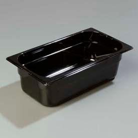 "Carlisle 1046103 - Topnotch® One-Third Size Pan 12-3/4"" x 7"", Black - Pkg Qty 6"
