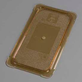 "Carlisle 10476U13 - Topnotch® Universal Flat Lid 12-3/4"" x 7"", Amber - Pkg Qty 6"