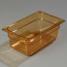 "Carlisle 1048113 - Topnotch® One-Quarter Size Pan 10-1/4"" x 6-3/8"", Amber, 4"" Deep - Pkg Qty 6"