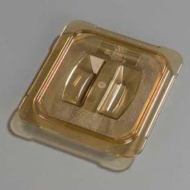 "Carlisle 10510U13 - Topnotch® Universal Handled Lid 6-3/4"" x 6-3/8"", Amber - Pkg Qty 6"