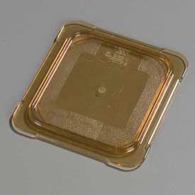 "Carlisle 10516U13 - Topnotch® Universal Flat Lid 6-3/4"" x 6-3/8"", Amber - Pkg Qty 6"