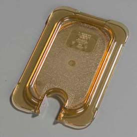 "Carlisle 10537U13 - Topnotch® Universal Flat Notched Lid 6-3/4"" x 4-1/4"", Amber - Pkg Qty 6"
