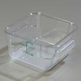 Carlisle 1072007 - Storplus™ Container 2 Qt., Clear - Pkg Qty 6