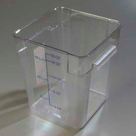 Carlisle 1072507 - Storplus™ Container 18 Qt., Clear - Pkg Qty 6