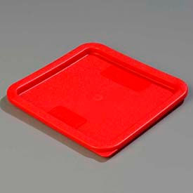 "Carlisle 1074105 - Storplus™ 6-8 Qt. Lid 9"", 9"", 5/8"", Red - Pkg Qty 6"