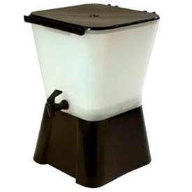 Carlisle 1082003 Beverage Dispenser, W/Base & Lid, Square, 3 Gallon Capacity, Black by